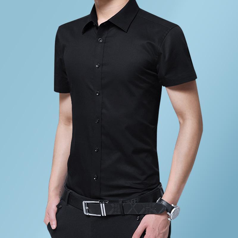 Pure Color Men Shirt Short Sleeve Summer Shirt Men Slim Design Mens Shirts Asian Size S M L XL XXL XXXL XXXXL XXXXXL