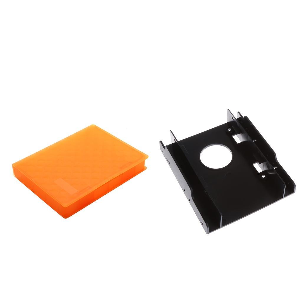 2.5 بوصة SATA / HDD / SSD الضميمة الأقراص حالة التخزين + 2.5 بوصة إلى 3.5 قوس القرص الثابت