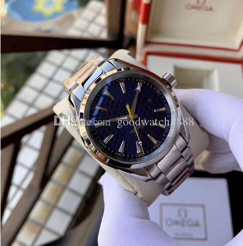 Edizione Limitata Automatico 8900 Movimento Aquateera Super luminoso Quadrante Blu Glass Men Watch in pelle / 316 inossidabile Banda