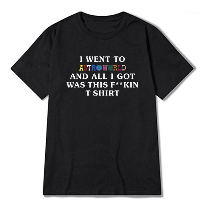 T-shirt da uomo Astroworld Rapper Travis Scomale Design T-shirt High Street Lettera Stampa Tees Tops Uomo Donna Moda Streetwear Tshirt1