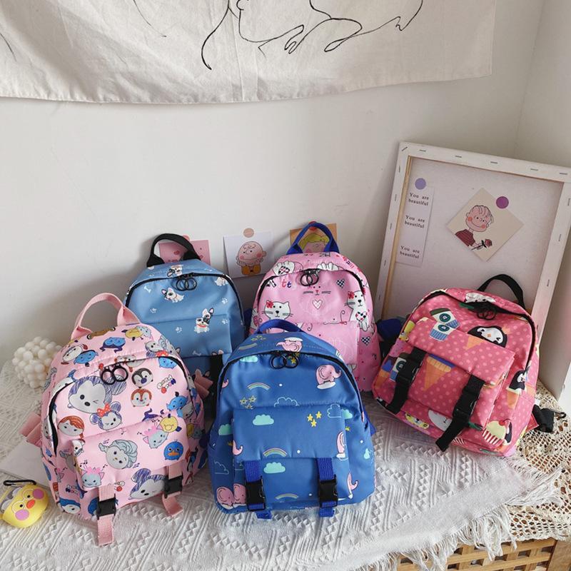 Детские Малыш Детские Мальчики Девочки Симпатичные Рюкзак детский сад Schoolbag младенца мультфильм животных сумка сумки на ремне рюкзака M200617