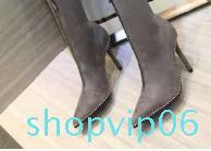 in pelle vendita calda-uine zip diamante pattini di vestito stivali partito delle donne di formato 35-41