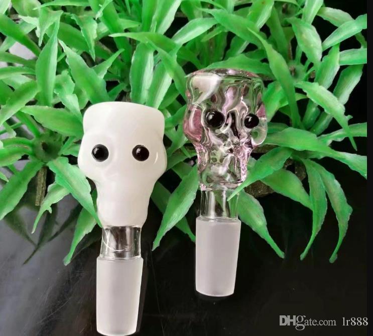 New cabeça ossos bolha, Tubos New Único vidro Bongos de vidro tubulações de água Hookah plataformas petrolíferas Fumo com Droppe