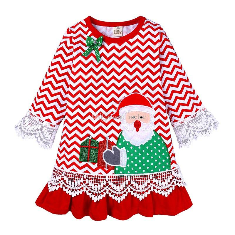 Christmas Multi-style Lace Sleeve Ruffle Dress Newborn Baby Girls Cute Dress Party Outfit Costume Xmas Clothes