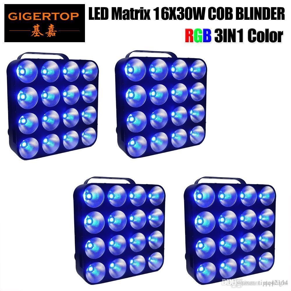 4lot 16x30W LED Matrix Light DMX Blinder fundo 3in1 LED Luz de Palco RGB Matrix feixe de luz 30W