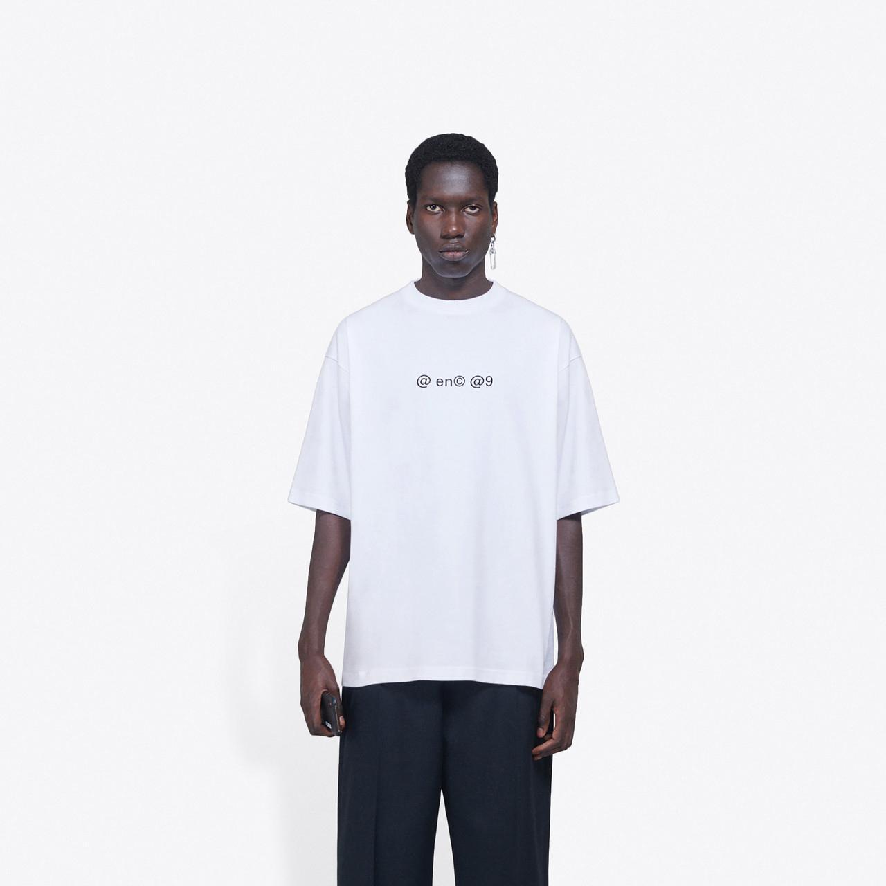 Melhor versão de luxo Europa pequeno @ impressão do logotipo T manga curta Homens Mulheres Moda Marca Tendência camisetas Casal Designer HFXHTX203