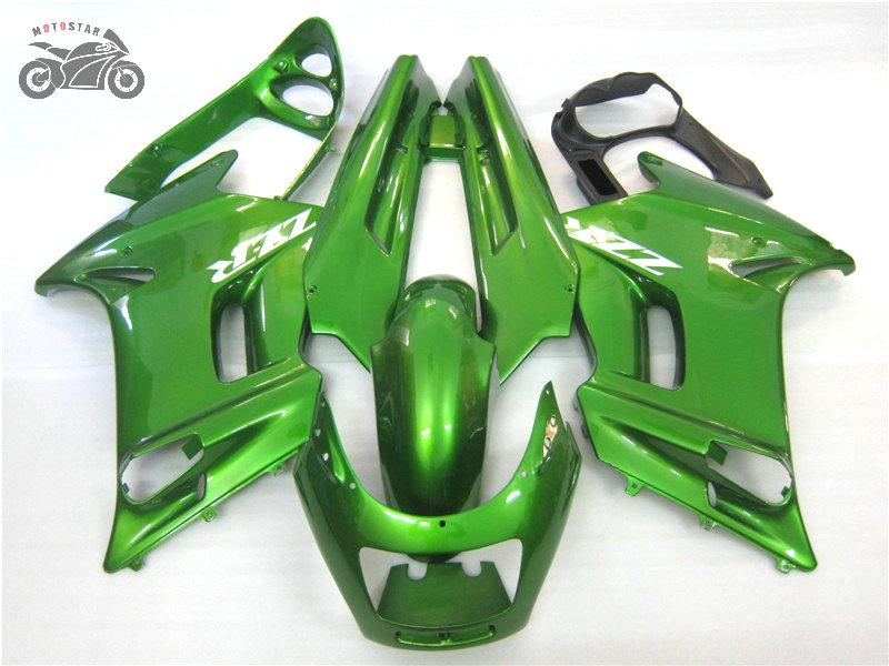 Customize Chinese Backset Set voor Kawasaki 1990-2007 ZZR-250 Donkergroen ABS Plastic Fairing Body Kits ZZR250 ZZR 250 90-07