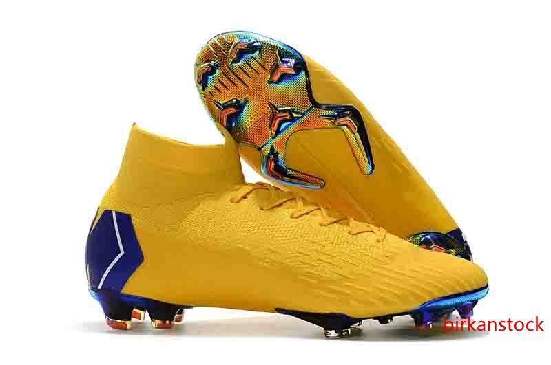New Mens Mercurial Superfly VI 360 Elite Neymar Soccer Cleats Football Boots Mercurial Superfly VI Soccer Boots 360 Elite FG Soccer Shoes