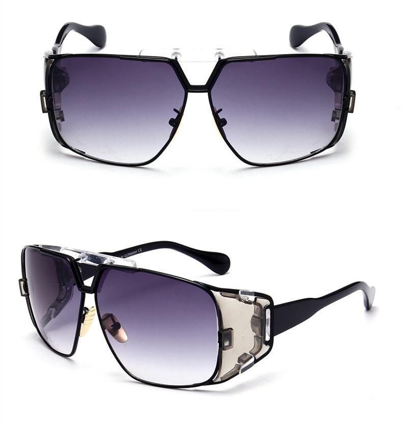 Lunettes de soleil de luxe surdimensionnées Vintage grand cadre planche légères lunettes de soleil hommes femmes rétro Design de luxe Adumbral Sun Glass