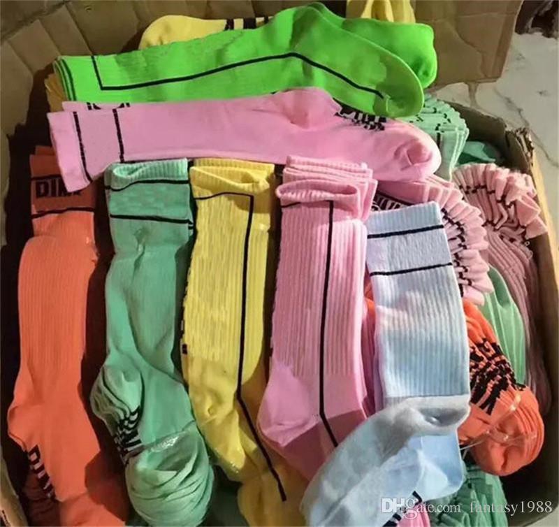 Frauen Mädchen Strümpfe Hohe Socken Im Freien Sport Fußball Basketball Cheerleader Lange Socken Baumwolle Multicolors Beinlinge