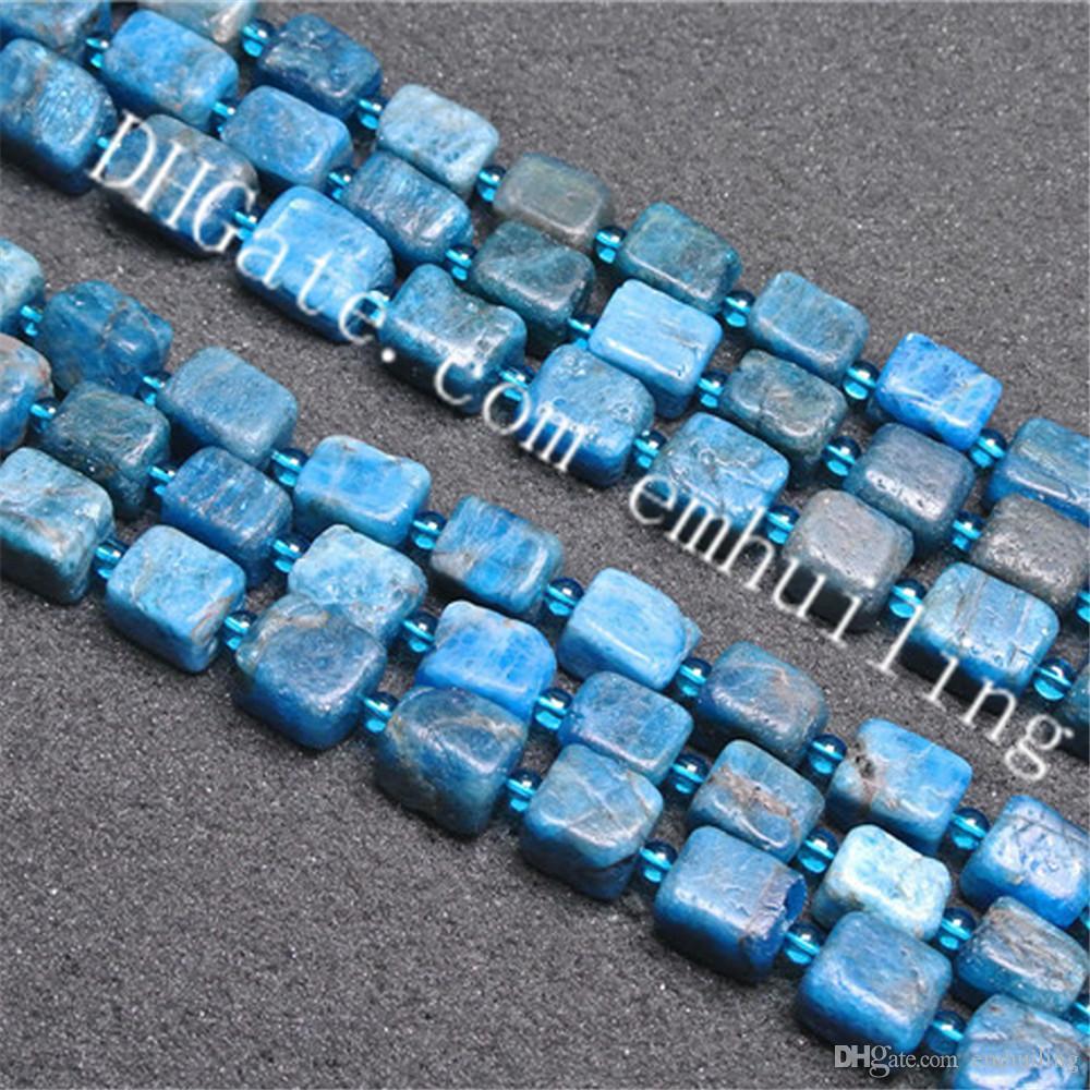 "Precious 14mm square lapis necklace 18 /"""