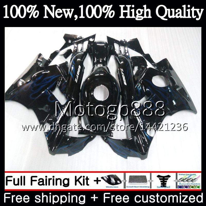 Honda CBR 600F2 FS CBR600 F2 91 92 93 94 AAPG15 CBR600FS CBR 600 F2 CBR600F2 1991 1992 1993 1994 Blue Flames Fairing Bodywork