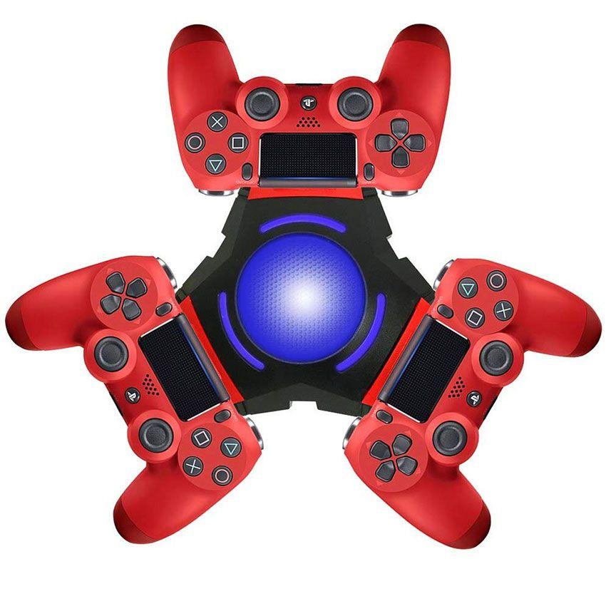 PS4 المراقب شاحن بلاي ستيشن 4 محطة شحن PS4 شحن حوض PS4 شاحن Ternary مع مايكرو USB كابل Charing