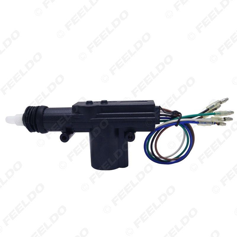 5-Wire blocco Universal Car Lock System centrale singolo Gun porta centrale attuatore motore ultrasonico saldato ed eccellente impermeabile # 4663