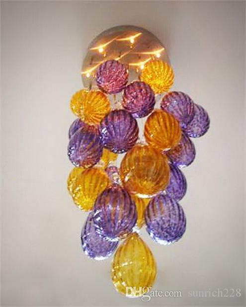 Cheap Price Chihuly Style Chandeliers Ball Shape Pendant Hanging Lamp Light for Spiral Stair Big House Decor