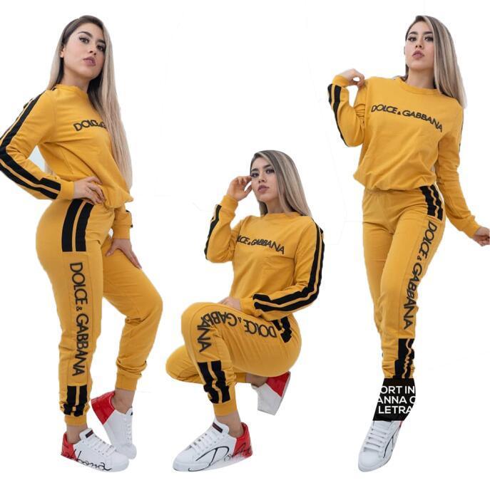 + leggings mulheres designer de treino Marca set 2 peça em malha com painéis principais culturas + calças caiam inverno agasalhos Casual camisa patchwork de manga comprida