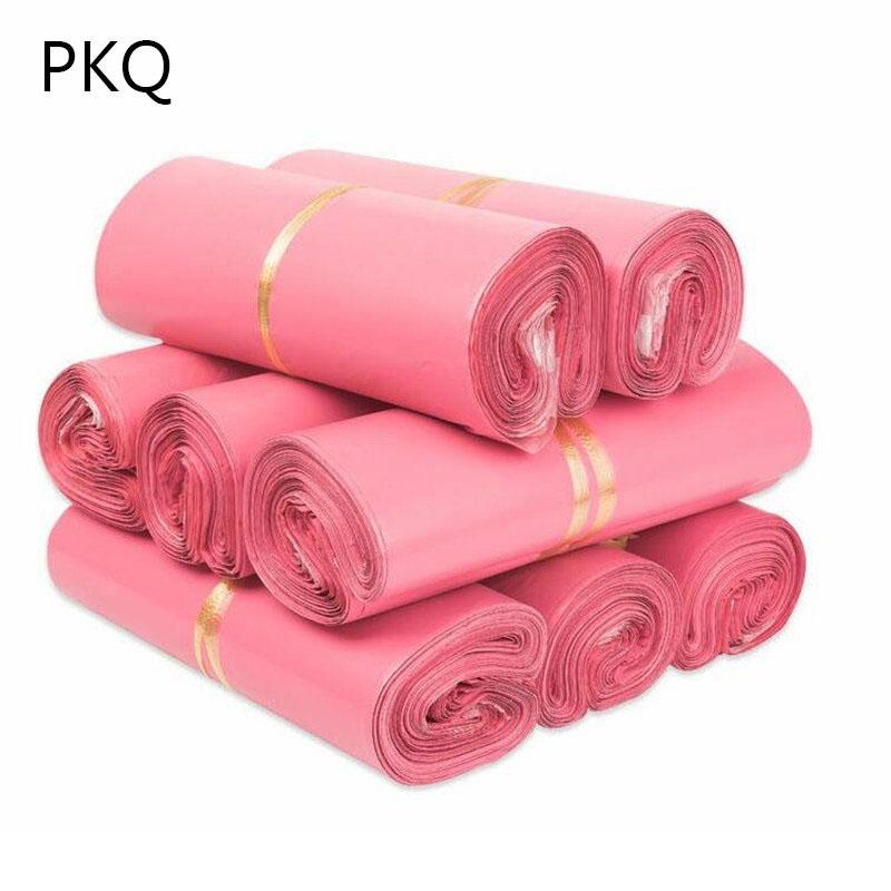 500 x 15 sobres Tamaños Rosa Poli Mailer nuevo plástico empaqueta los bolsos del sobre alta calidad del envío por expreso rápido al por mayor de 11/7