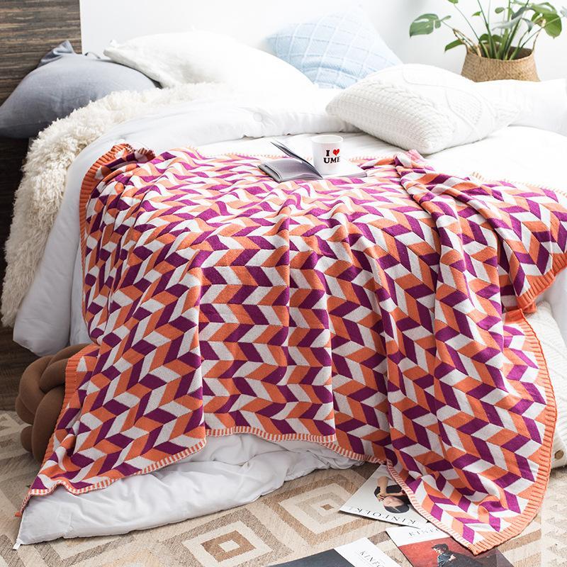 Sheraton Rueijing Tekstil Dekoratif Koltuk Battaniye Ev Kollokasyon Yeni Ürünleri Fotoğraf Battaniye INS Sıcak Satış Örme Thr