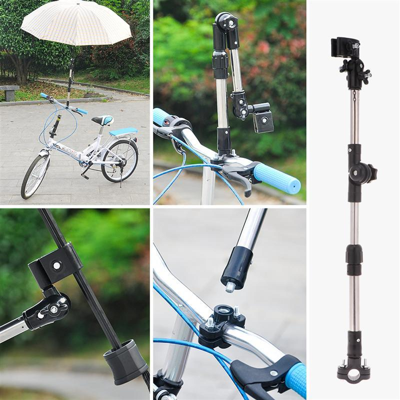 Stainless Steel Umbrella Stands Any Angle Swivel Wheelchair Bicycle Umbrella Connector Stroller Holder Rain Gear Tool