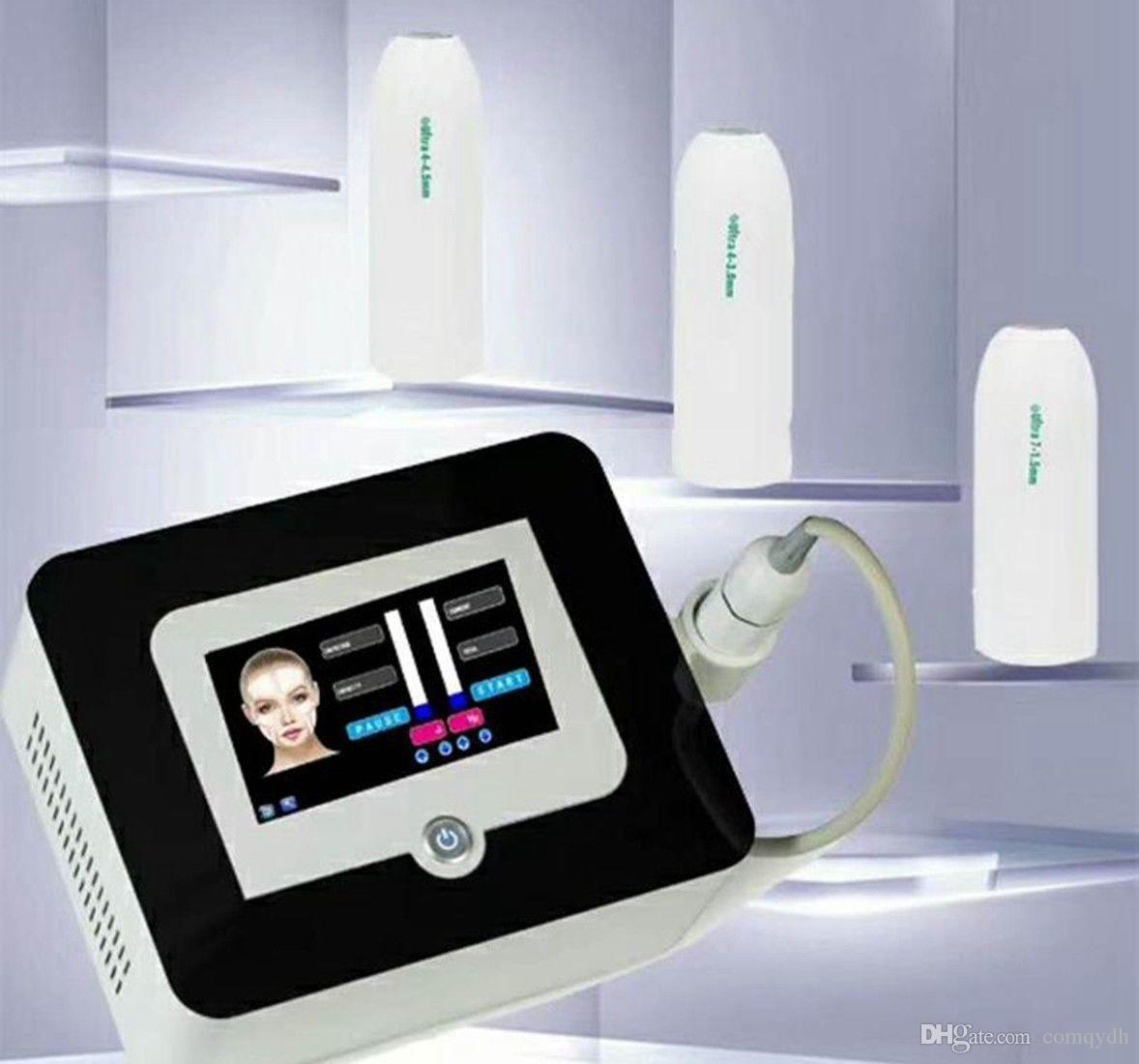 Yeni Varış Vmax HIFU Yüz Germe Kırışıklık Kaldırma Makinesi / Vmax Anti Aging V-Max Terapi Cihazı ile 3 kartuşları CE
