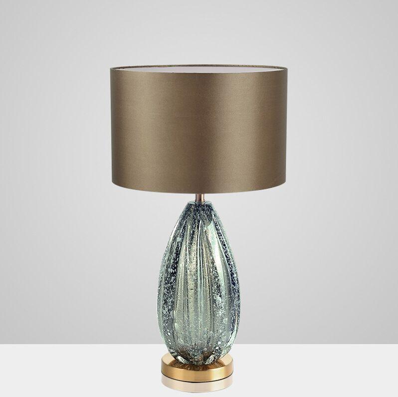 Modern American Simple Gray Green Glass Table Lamp Villa Living Room Bedroom Study Fashion Creative Bedside table Light