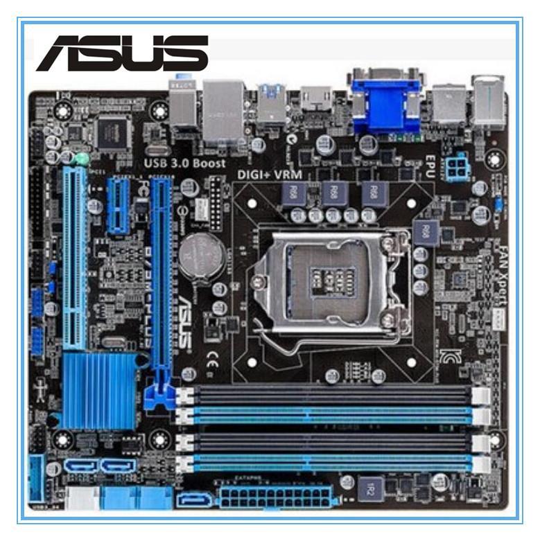 سطح اللوحة آسوس B75M-PLUS المستخدمة اللوحة B75 المقبس LGA 1155 كور i3 i5 و i7 من DDR3 16G