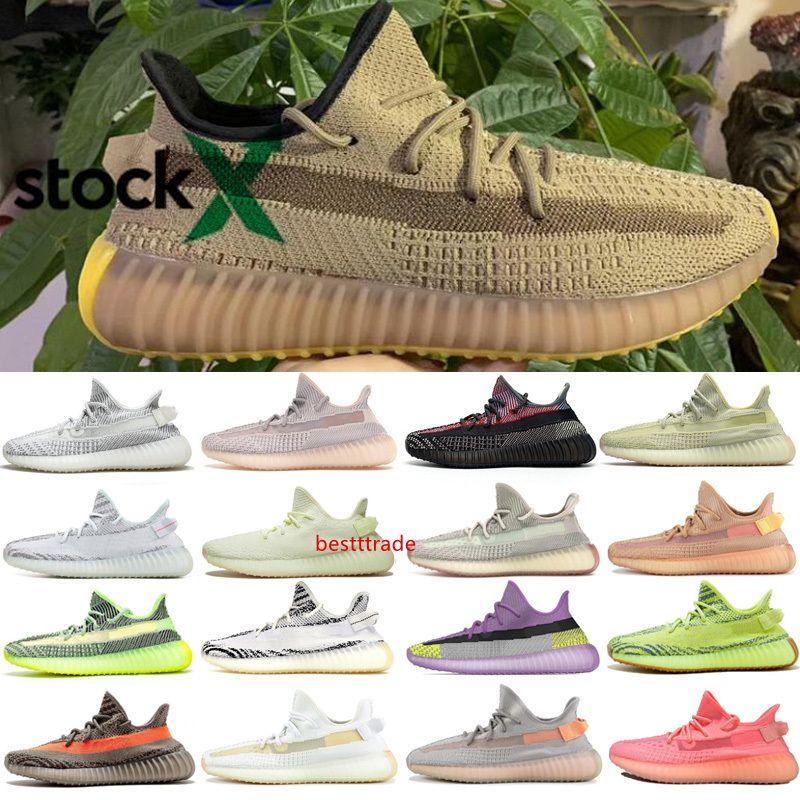 Forma Kanye West Lundmark Antlia arcilla hiperespacio Negro verdadero 3M reflectante GID Glow Beluga 2.0 zapatos al aire libre 36-48
