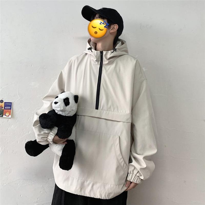 Casual hombres sudaderas con capucha otoño sólido bombardero chaqueta moda cremallera con capucha rompevientos táctico hombre suéter con capucha