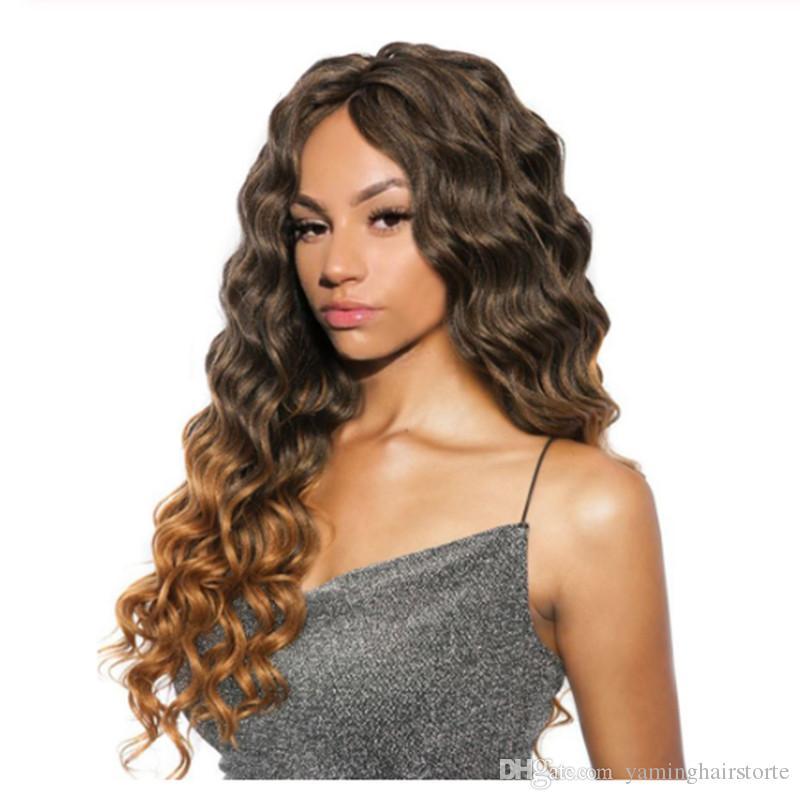 Crochet cabelo encaracolado sintético trança extensões do cabelo da onda profunda Ombre Cor Crochet Tranças Freetress Tranças volume do cabelo