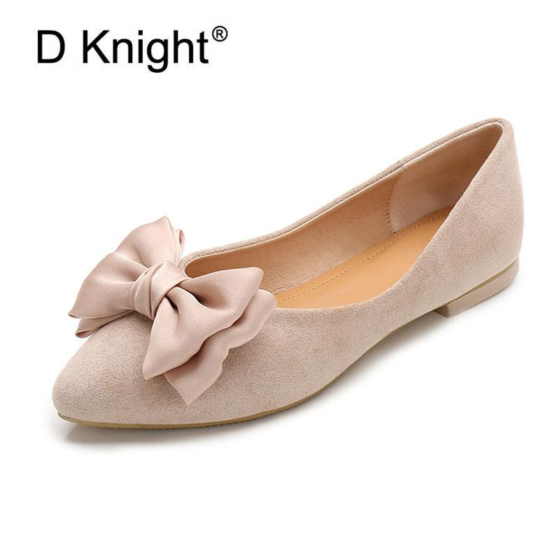 Fashion Women Flat Ballet Shoes Big Bow Pointed Toe Flats Shoes Elegant Comfortable Lady Shoes Shallow Mouth Women Loafers Black Leopard Print Shoes