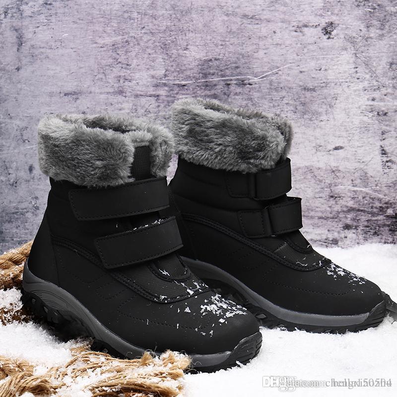 Женские классические высокие сапоги Женские ботильоны Ботильоны снегоступы девушки зимний ботинок кожаный ботинок хлопчатобумажная обувь Повседневная обувь