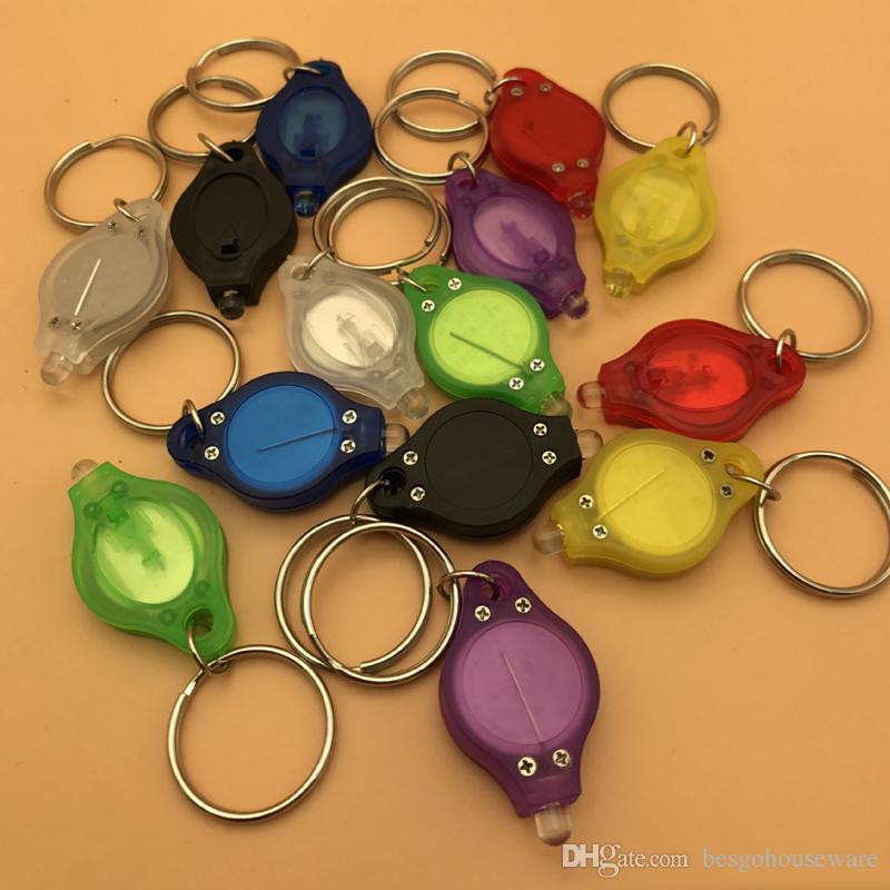 تعزيز هدية صغيرة الأزياء مفتاح الدائري البسيطة مشاعل المحمولة سلسلة المفاتيح الرجال النساء دائم الصمام الخفيفة متعدد الألوان المفاتيح BH0154