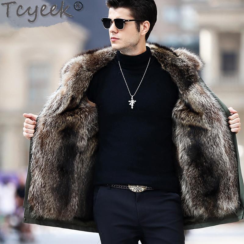 2021 Real Fur Coat Men Parka Winter, Real Fur Coats Men