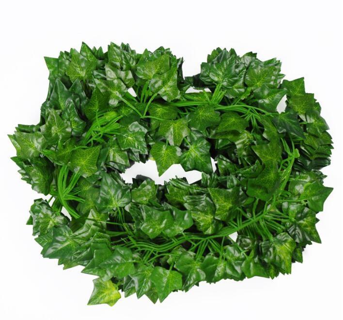 Artificiale MappleLeaf Ivy foglie della vite foglia 12pcs / bag Vite Fogliame per le decorazioni giardino di casa