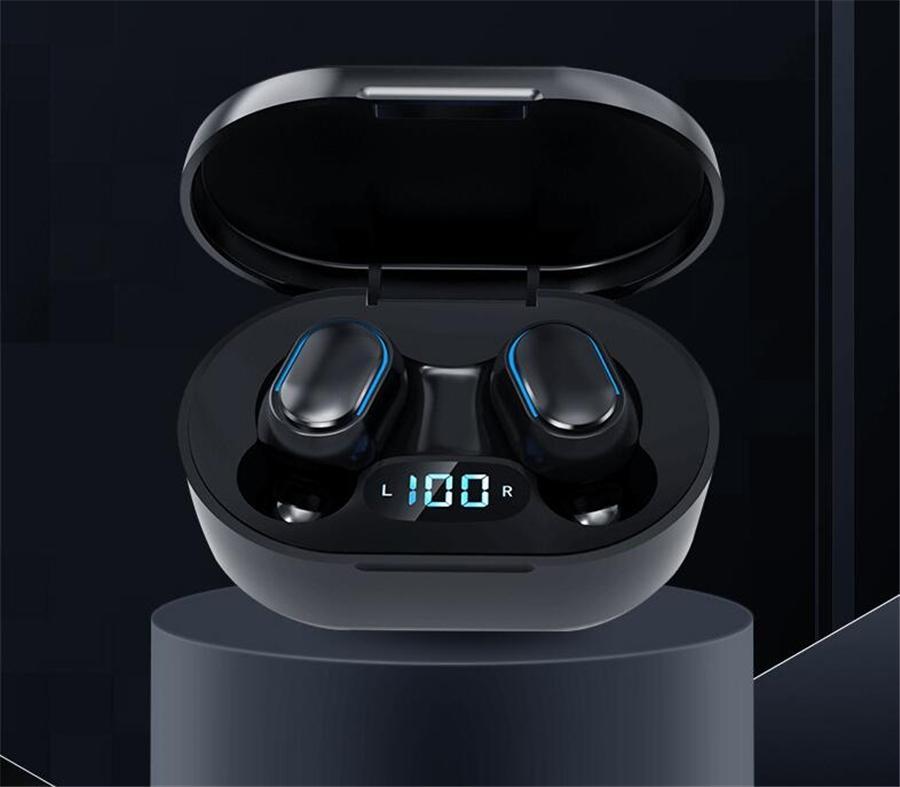 Sem fio 5.0 BassPal Bluetooth TWS fone IPX7 impermeável verdadeira Auscultadores sem fios Toque Earbuds de controle com carregamento Caso # OU598