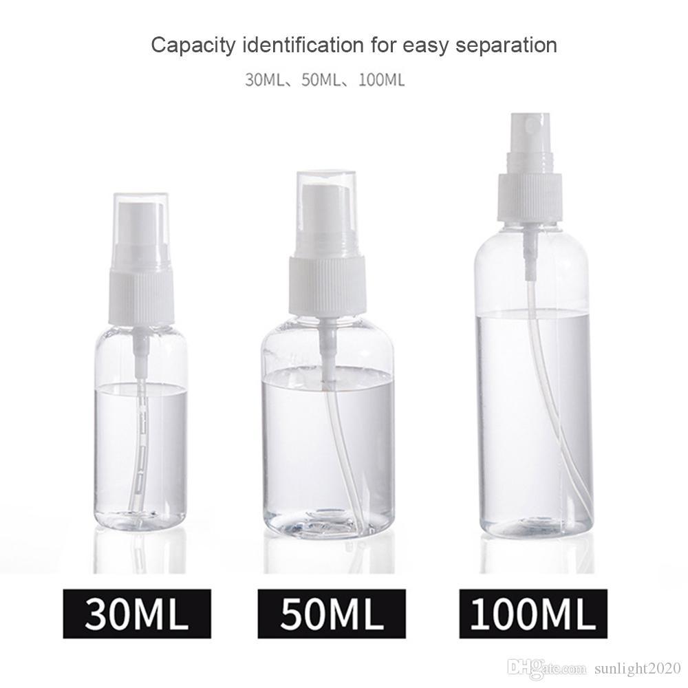 رش زجاجة 30ML / 50ML / 100ML عبوة زجاجة رذاذ مطهر 84 التنظيف مخصصة صغير غرامة فارغة ضباب التجديد