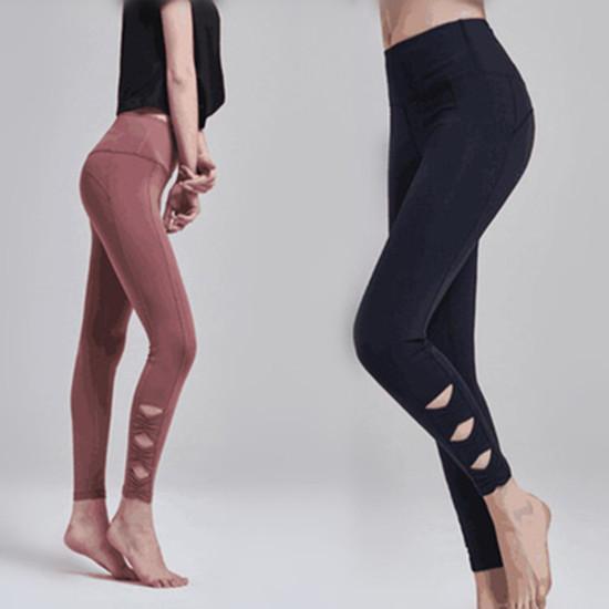 Gym Strumpfhosen Nahtlose Bauch-Steuer Yoga-Hosen mit hohen Taille Sport Leggings Lauf Hose Fitness Yoga Jogger Hosen Bodybuilding YFA1158Q-1