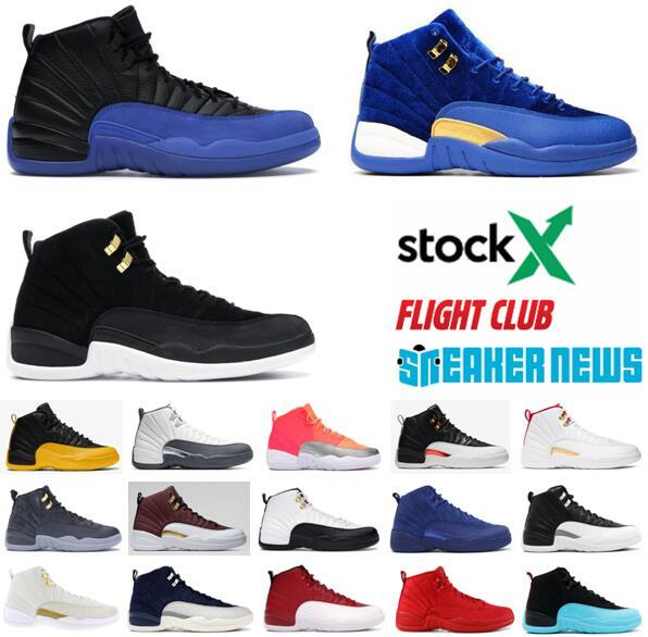 Jumpman 12 12s FIBA CNY Bumblebee Mens Basketball Shoes Reverse Taxi Game Royal Blue Gym Red Wings Grey Men Sports Designer Sneakers Trainer Sneakers