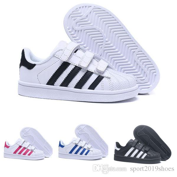 Acheter Adidas Superstar 80 2019 Enfants Superstar Chaussures Original  Blanc Or Bébé Enfants Superstars Baskets Originals Super Star Filles  Garçons ...