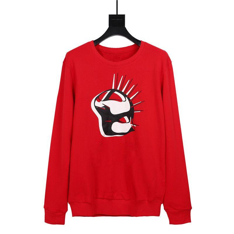 19FW Famous Hip Hop Sweatshirts Mode Imprimer Hommes Femmes Sweats à capuche Couples Sweats à capuche manches longues noir rouge