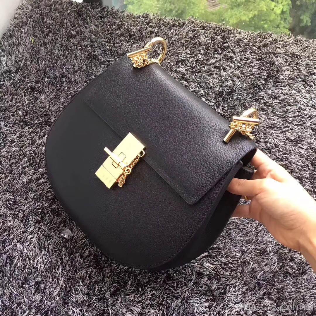 2019 neue Luxus-Mode-Damen hochwertige helle Tasche braun khaki und bunte Handtasche Schultertasche Umhängetasche