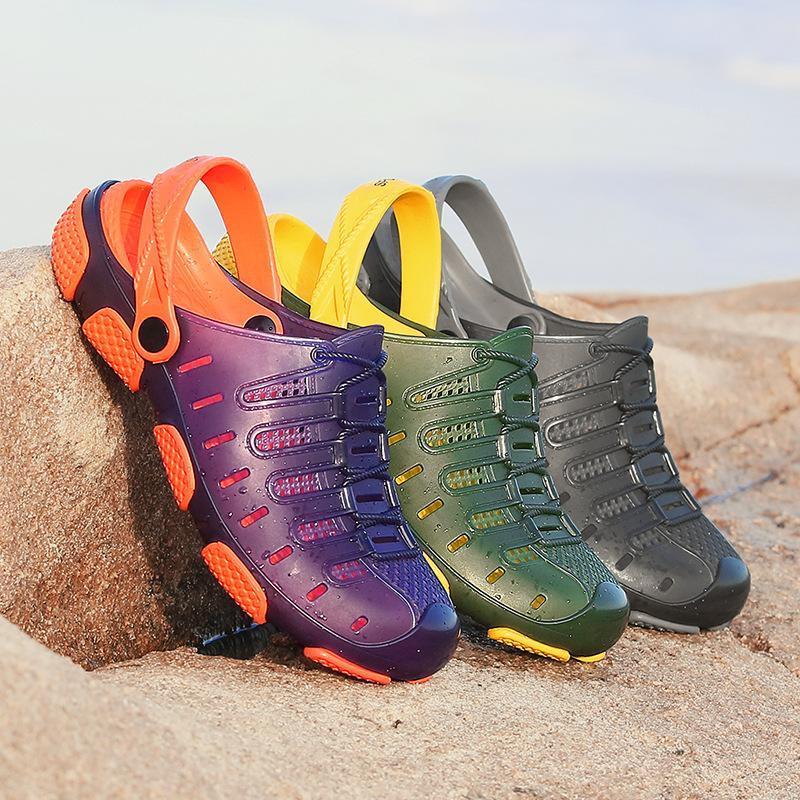 Duty-free Big Size 45 Lover 3 colori Scarpe hj67 Banda sandali della spiaggia di estate Nuoto Mens Uomo