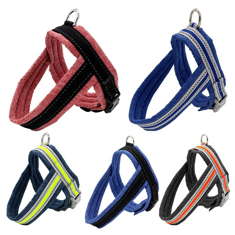 Pet Dog Reflective Harness And Leash Set Dog Cat Adjustable Harness Vest for Small Medium Outdoor Walking Training Leash