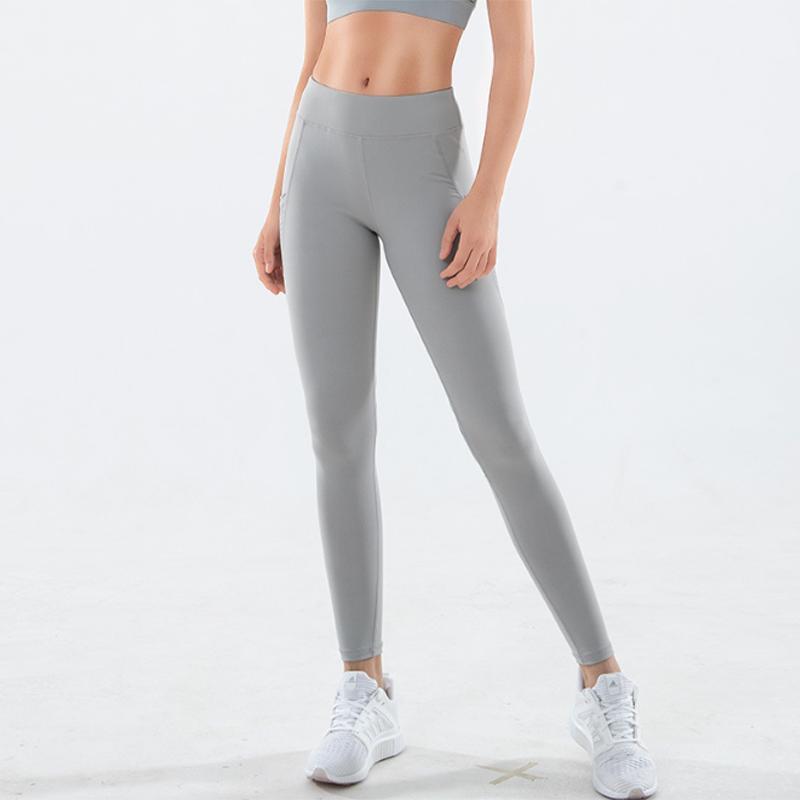 2020 aptitud de las mujeres Ejecución de Yoga empuje de las bragas de cintura alta de control de la panza arriba aptitud polainas Deporte