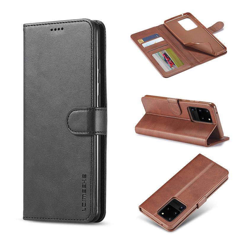 PU-Leder-Telefon-Kasten für Samsung S20 Plus Ultra-weiche TPU-Mappen-Kasten Luxus rückseitige Abdeckung mit Kreditkartensteckplätze für iPhone