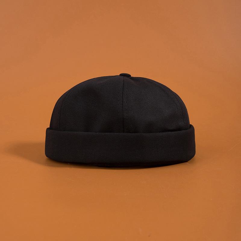 Fashion-brimless Skullies Cap Vintage urbano unico Via portatile Docker cappelli multiuso Miki Hat Beanie cappelli firmati caps uomini