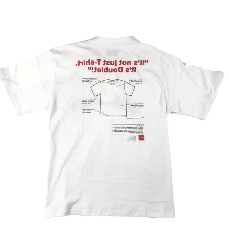 Diseñador de moda doblete 18ss Cartas camiseta Diseño Camiseta blanca para Tops para hombre de las mujeres del verano