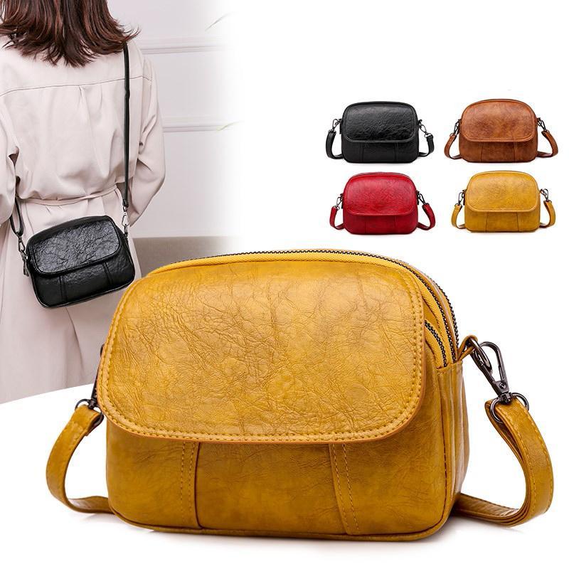 bag 2020 nuovi di alta qualità morbido PU cuoio delle signore messaggero della spalla del progettista bag multi-layer doppia cerniera delle donne di lusso