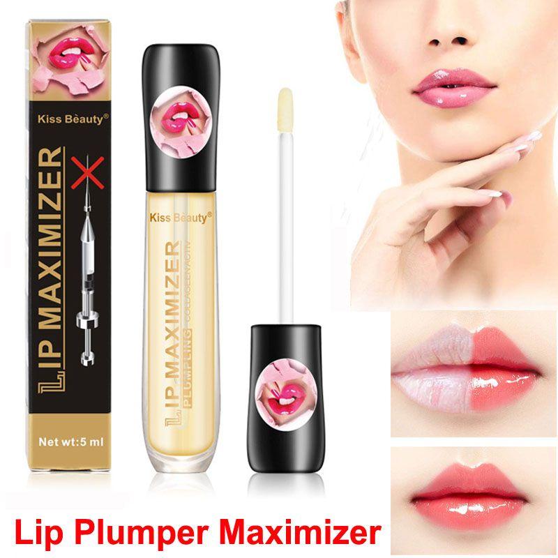 Beijo Beauty Lip Lip Gloss Óleo Hidratante Lip Maximizer plumpling Plumper Enhancer Lips Máscara bordos instantaneamente Sexy Cuidados de soro