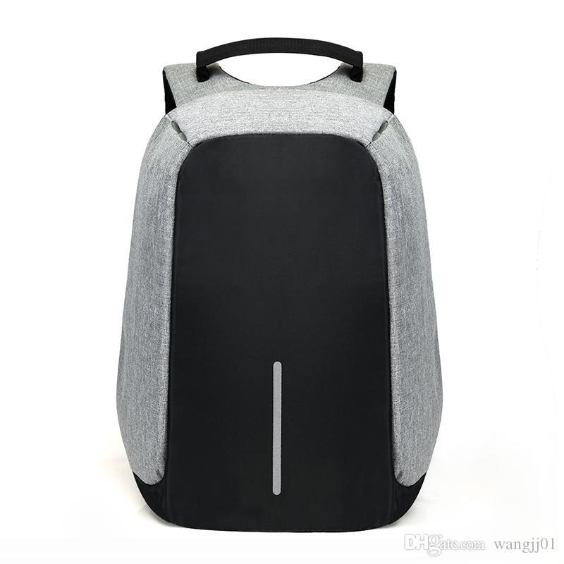 15.6 بوصة كمبيوتر محمول على الظهر USB شحن مكافحة سرقة حقيبة الظهر للرجال سفر على ظهره حقيبة مدرسية للماء ذكر